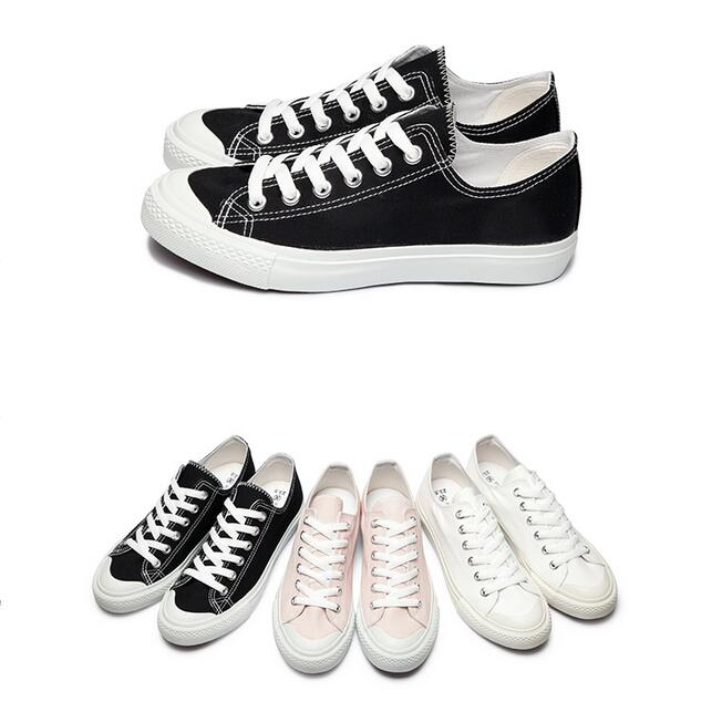 【My style】富發牌1CM03奶油頭帆布休閒鞋(黑.米.粉)23-25號-任兩雙免運
