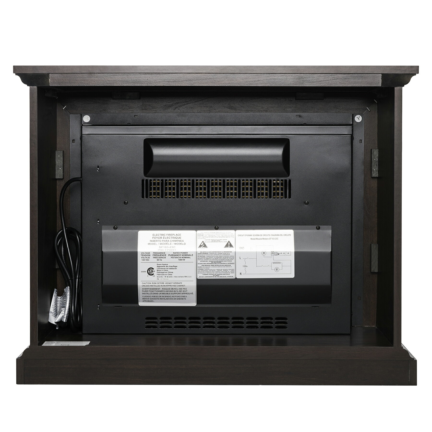 "AKDY 32"" Brown Wooden Mantel Freestanding Electric Fireplace Stove Heater 3"