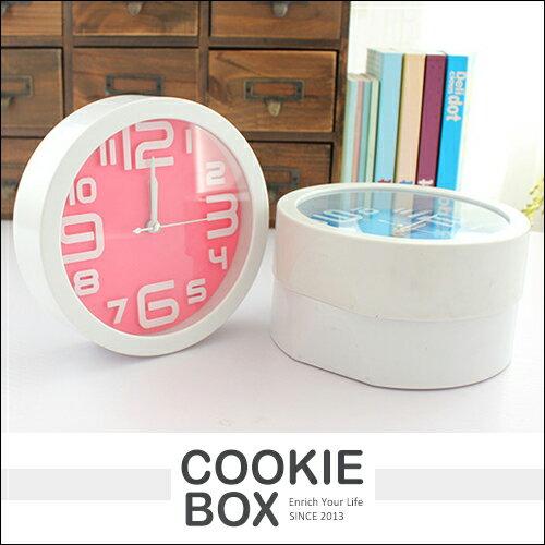 創意 居家 清新 甜美 糖果色 可愛 鬧鐘 時鐘 鬧鈴 指針式 極簡風 *餅乾盒子*