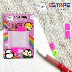 王佳膠帶 ESTAPE Squly MEMO隨手貼 可書寫 標籤 重覆黏貼 15x55mm 色頭螢光粉 (CHI1252)