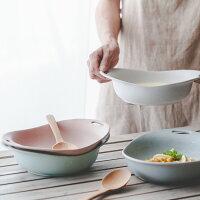 鄉村風zakka雜貨到鄉村Zakka風 馬卡龍色系陶瓷碗餐具 雙耳小湯碗 磨砂菜盤早餐盤