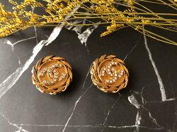 Chanel 香奈兒精品 日本直送古著 精美耳環  麋鹿公主 歐美時尚 平行輸入精品店