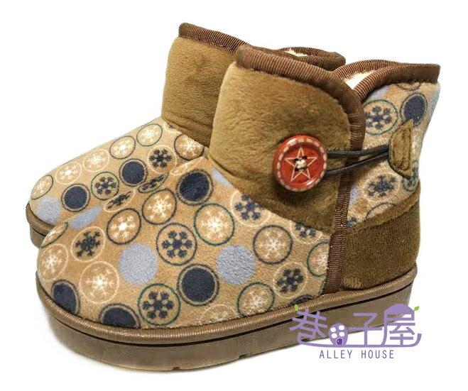 【巷子屋】女童款普普風側釦溫暖雪靴 [8015] 棕 超值價$250