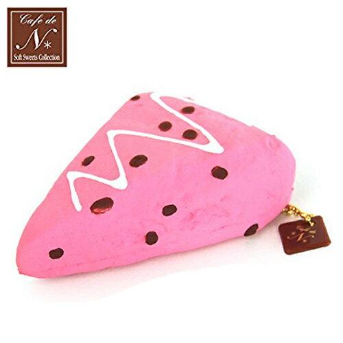 草莓款【日本進口】司康 捏捏吊飾 吊飾 捏捏樂 軟軟 cafe de n squishy 捏捏 - 616371
