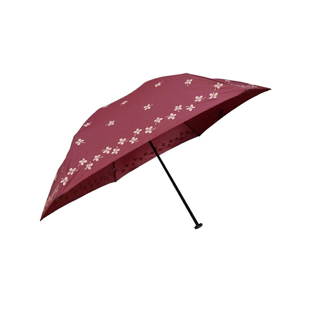 雨傘 陽傘 ☆萊登傘☆ 108克超輕傘 易攜 超輕三折傘 碳纖維 日式傘型  Leighton 幸運草印花