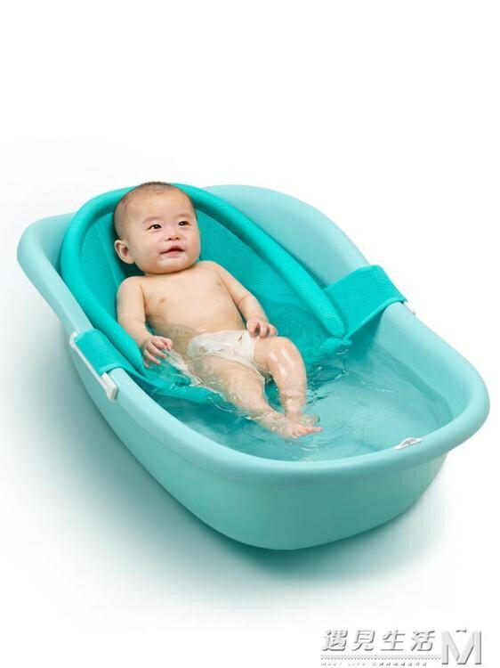 洗澡盆可坐可躺新生兒浴盆嬰幼兒家用防滑大號抖音同款