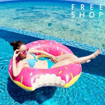 《全店399免運》游泳圈 Free Shop【QFSJB9045】海洋沙灘派對海攤草莓巧克力甜甜圈造型游泳圈 泳池 比基尼 墾丁 女神