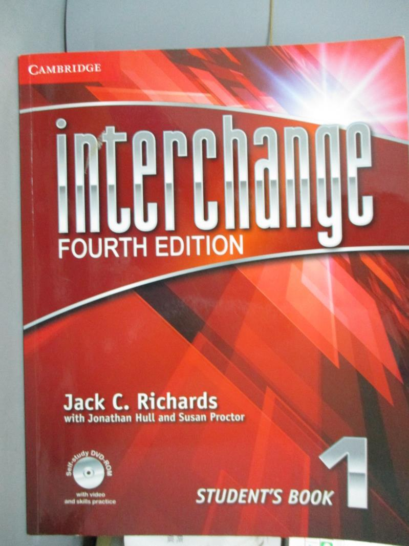 【書寶 書T5/語言學習_XCG】Interchange Student Book 1_Richards Hull