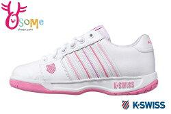 K-Swiss Eadall 慢跑鞋-女款 內襯圖騰 休閒鞋C9939#白粉◆OSOME奧森鞋業