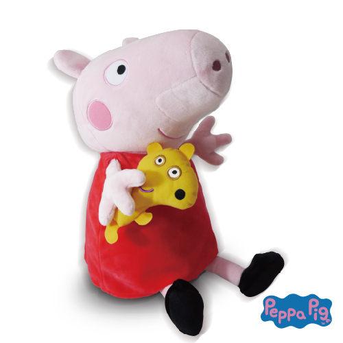 ★衛立兒生活館★美國 Zoobies 迪士尼三合一多功能玩偶毯-佩佩豬「玩偶+枕頭+毛毯」