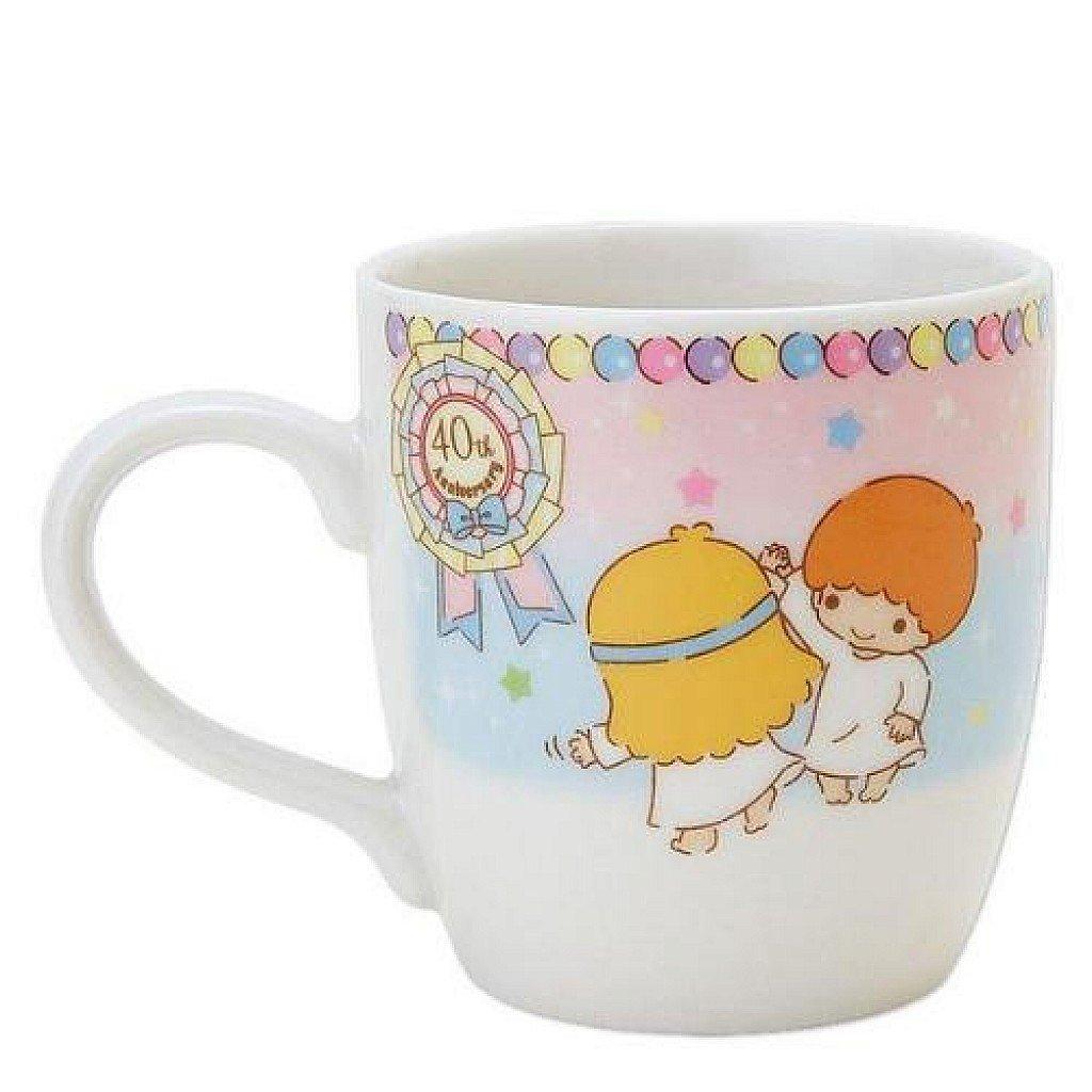 17122700002 40th日本製馬克杯-TS氣球 三麗鷗 kikilala 雙子星 杯子 陶瓷 真愛日本