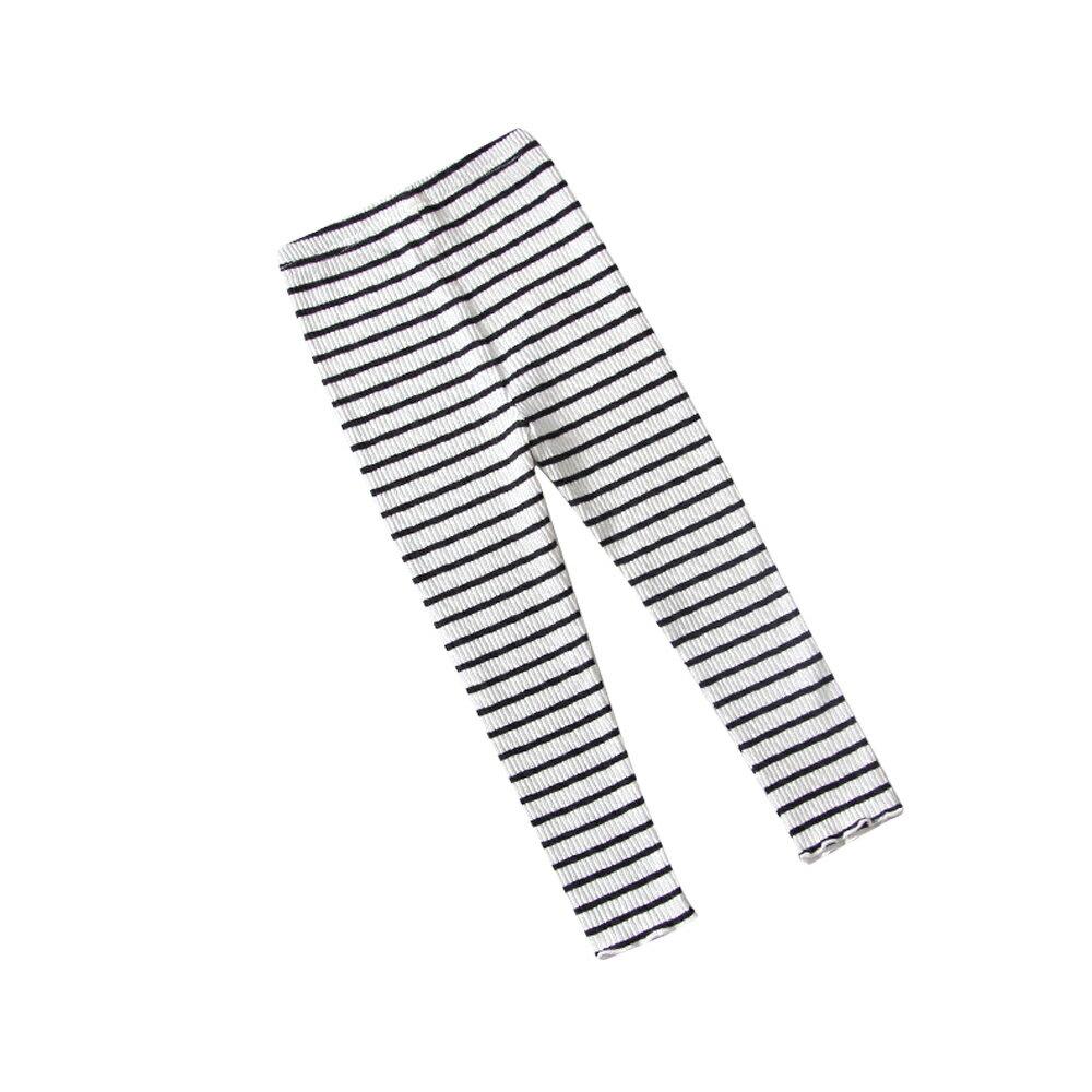 條紋內搭褲 男女童可穿 彈力針織打底褲 88204(好窩生活節) 3