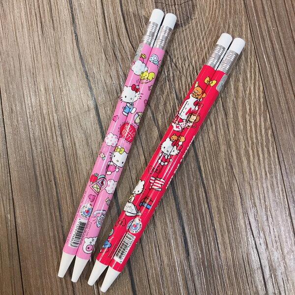 【真愛日本】18090700013二入仿木鉛自動鉛筆組-兩色凱蒂貓kitty自動鉛筆鉛筆自動筆兩入書寫用品文具