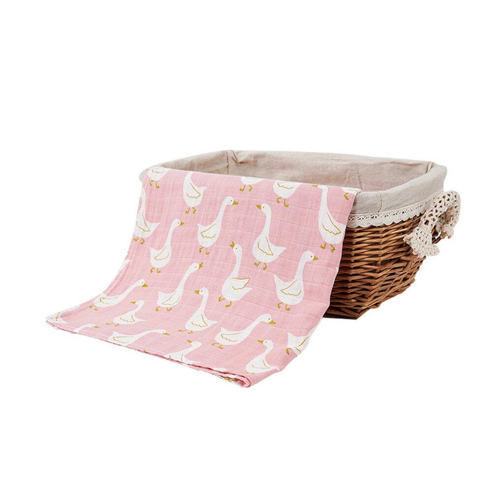 Muslintree雙層動物印花嬰兒紗布包巾蓋被浴巾JoyBaby 618購物節