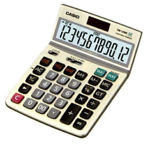CASIO DW-120MS桌上型計算機太陽能稅率12位