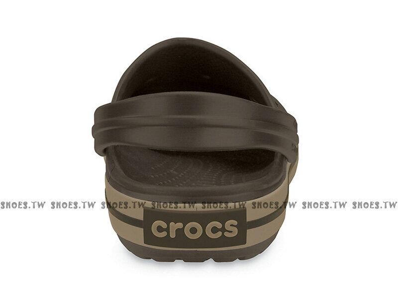 Shoestw【11016-22Y】CROCS 卡駱馳 鱷魚 輕便鞋 拖鞋 涼鞋 咖啡色 中性款 2