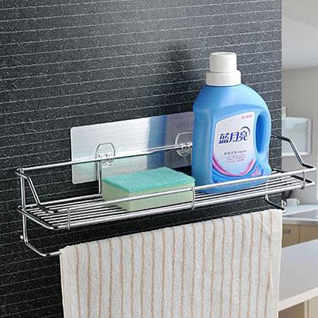 無痕貼系列 超長收納架 置物架 收納架 整理架 浴室 廚房 居家 不鏽鋼 壁掛式 無痕 懸