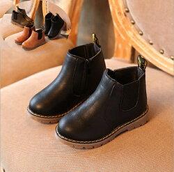 仿皮好搭短靴  皮鞋 靴子 橘魔法Baby magic 現貨 兒童 童鞋 童裝  (有一般款跟刷毛加厚款) 兒童鞋