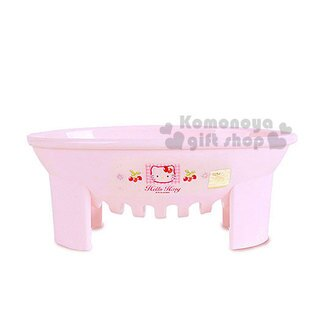 〔小禮堂韓國館〕Hello Kitty 鬃刷置物盤《粉紅.草莓》輕鬆美化空間