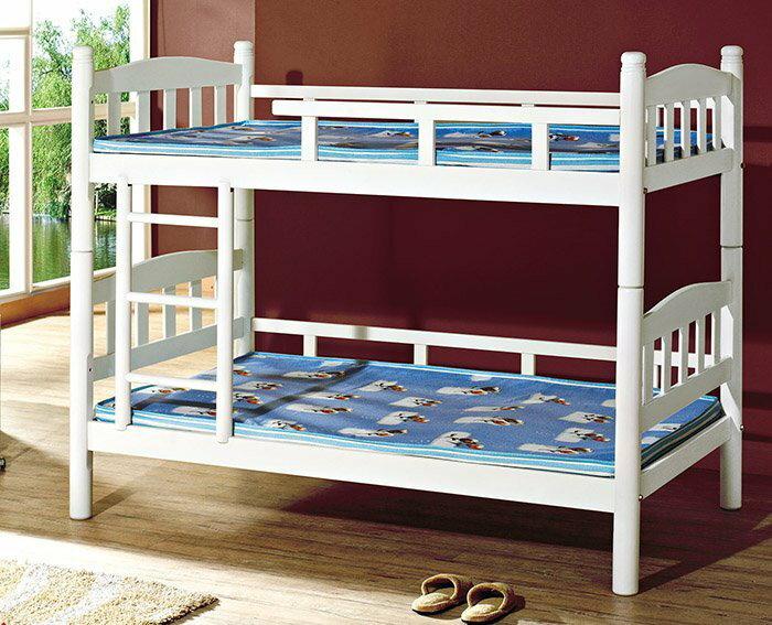 【尚品家具】HY-A195-01 朵拉3.5尺白色烤漆雙層床