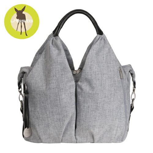 【安琪兒】德國【Lassig】時尚單寧托特媽媽包(刷色灰)