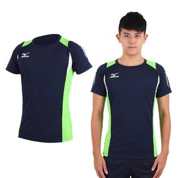 MIZUNO美津濃排球衣(藍綠)練習衣抗UV快速排汗速乾V2TA6G1614【胖媛的店】