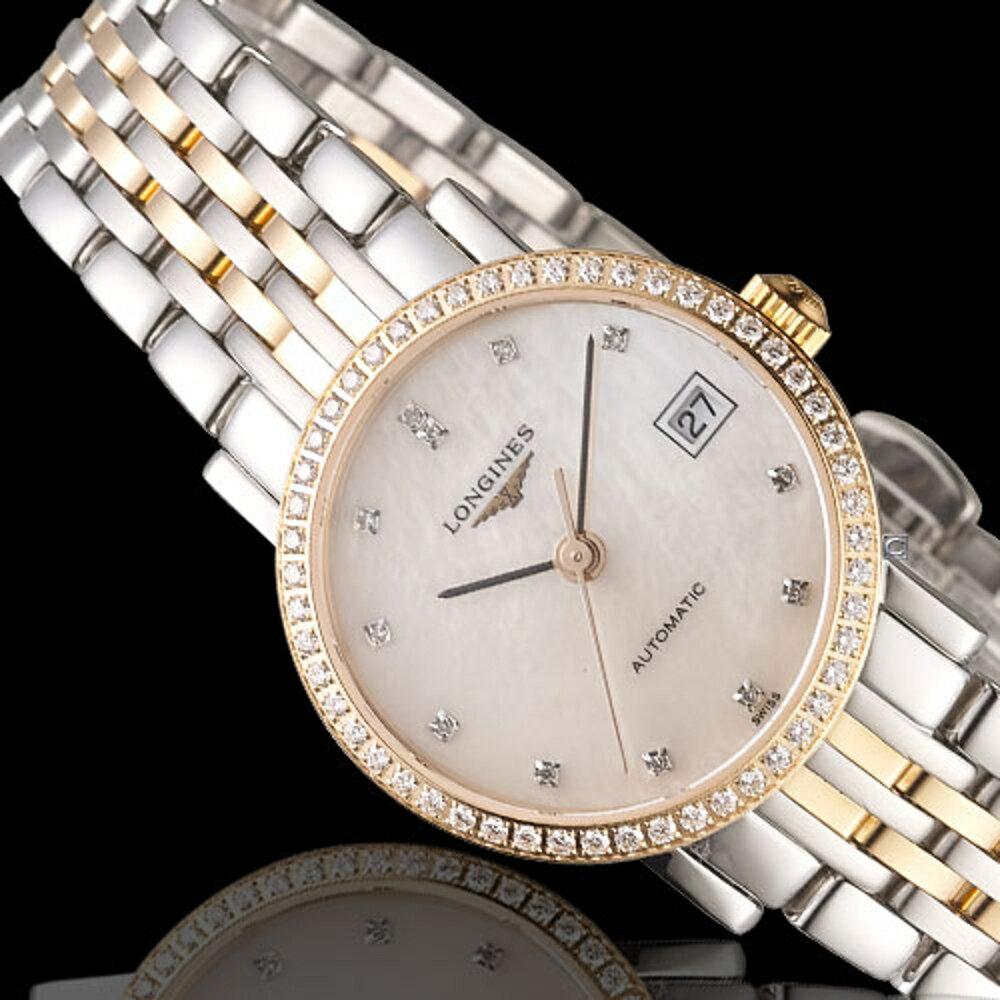 LONGINES 浪琴錶 優雅系列真鑽機械腕錶 L43095887
