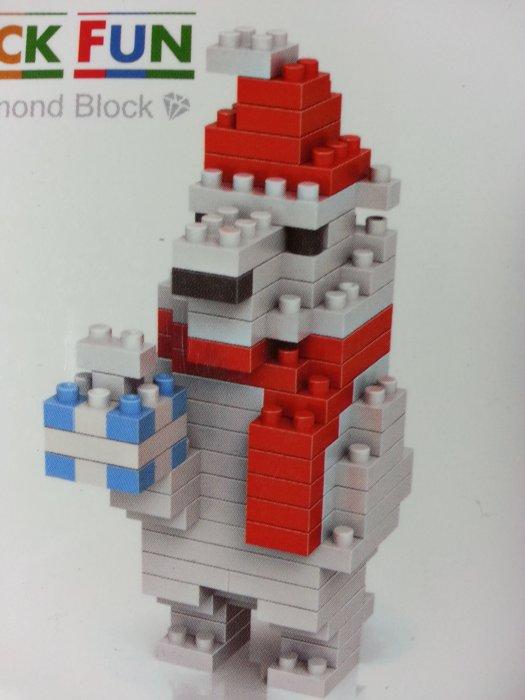 積木 9122 聖誕熊 140pcs#鑽石積木 微積木系列