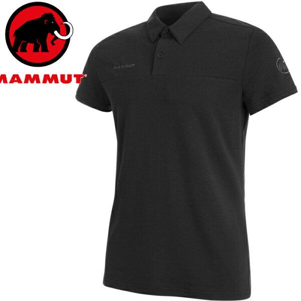 Mammut長毛象POLO衫排汗衣休閒上衣短袖polo衫TrovatTour男款1017-000300001黑色