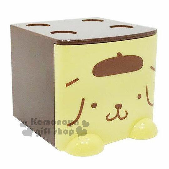 〔小禮堂〕布丁狗 桌上單抽積木收納盒《黃棕.大臉》可多個推疊