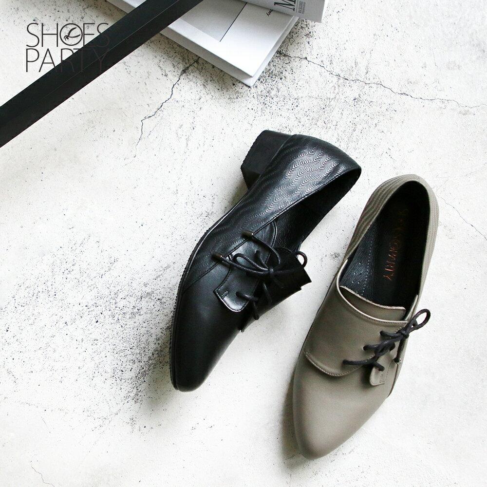 【F2-19906L】斜綁帶小V口踝靴_Shoes Party 0