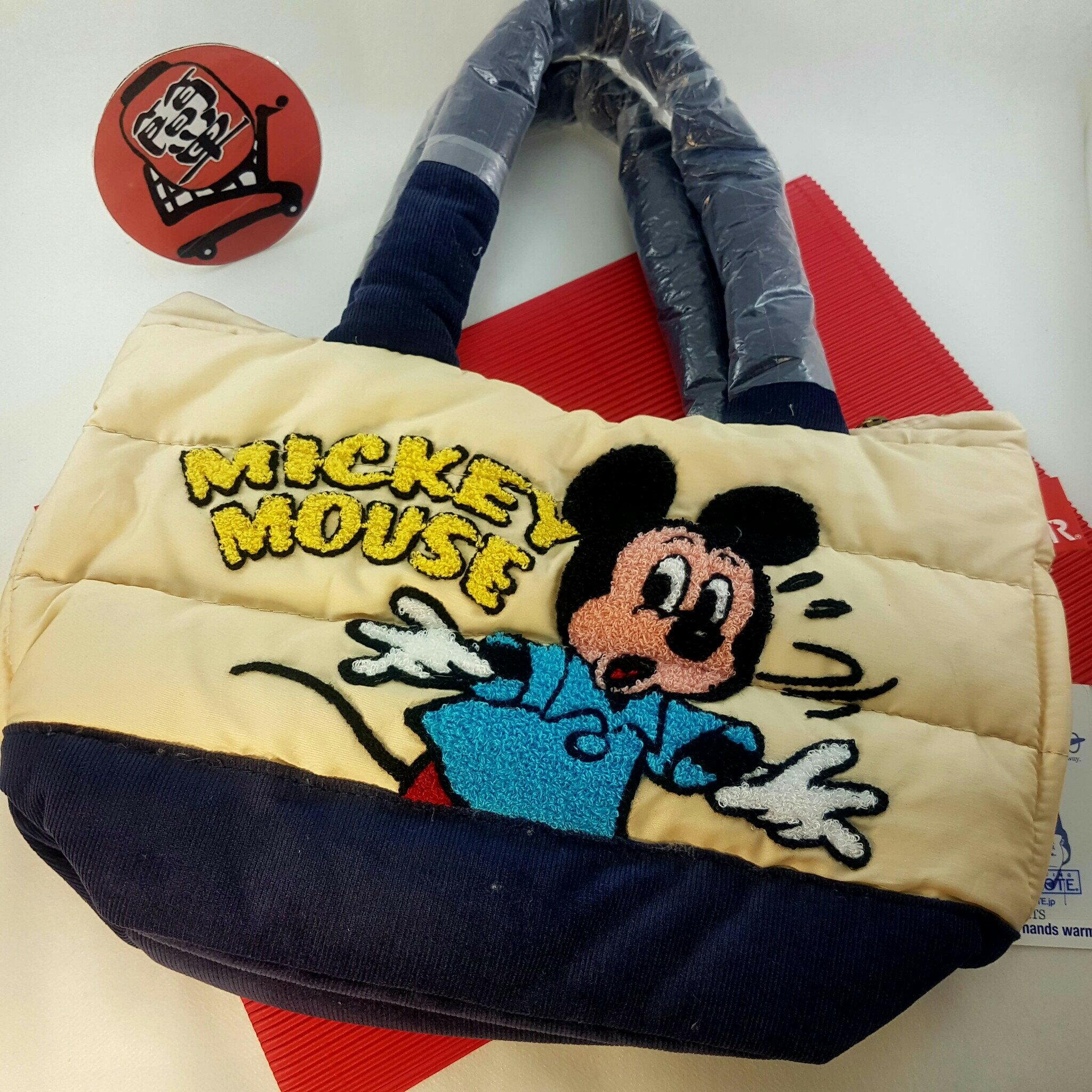 『日本代購品』 ROOTOTE 米奇 刺繡空氣包 手拿包