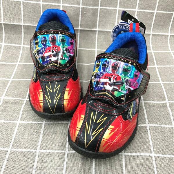 【巷子屋】烈車戰隊-童款電燈運動休閒鞋[60202]黑紅MIT台灣製造超值價$198