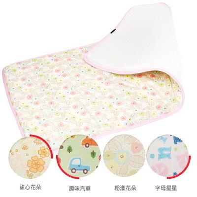 【悅兒樂婦幼用品?】GIO Kids Mat 超透氣排汗嬰兒床墊-M號 (粉漾花朵/趣味汽車/甜心花朵/字母星星)
