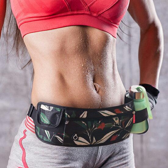 ♚MY COLOR♚多 腰包 跑步包 便攜 男女 防水 健身 戶外 水壺 手機 腰包  扣