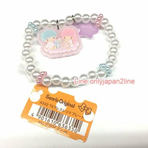 【真愛日本】17040600037 造型墜飾手環-TS珍珠星月白AAI 三麗鷗 Kikilala 雙子星 飾品 手鍊