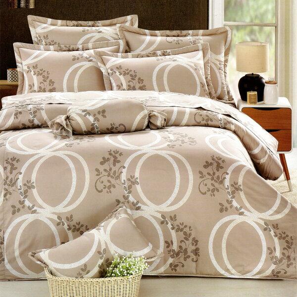 【名流寢飾家居館】圓滿花香.100%純棉.加大單人床包組兩用鋪棉被套全套.全程臺灣製造