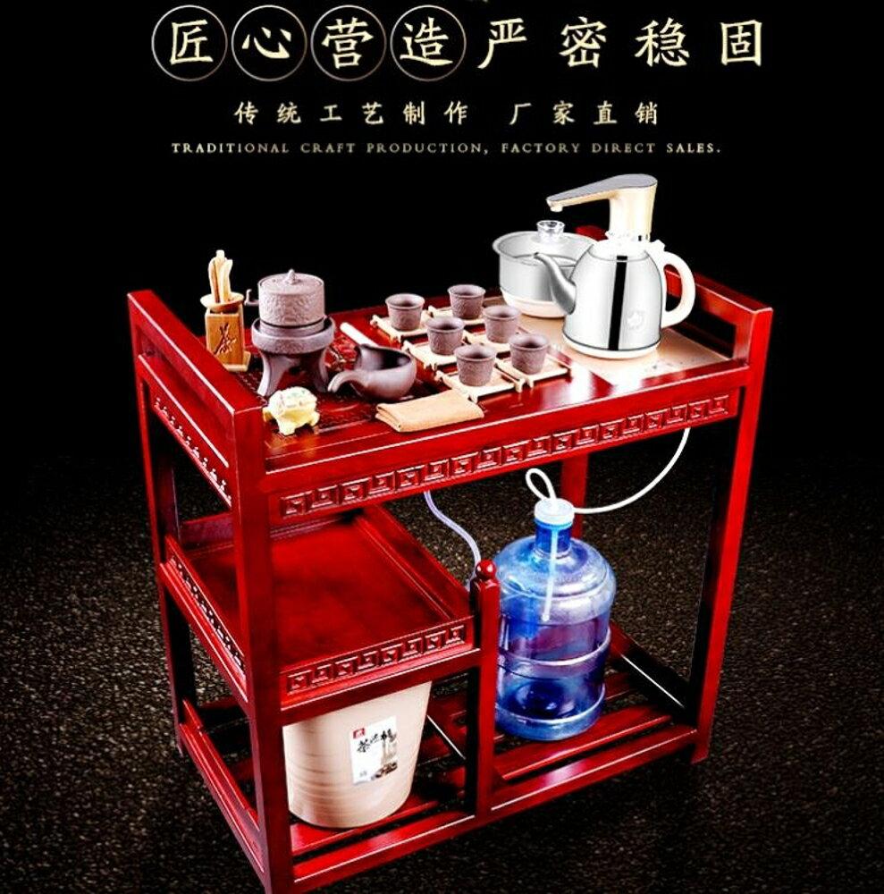 茶車 可移動茶臺泡茶車實木家用套裝簡約功夫茶桌茶盤茶具茶車整小茶幾 第六空間 MKS 0