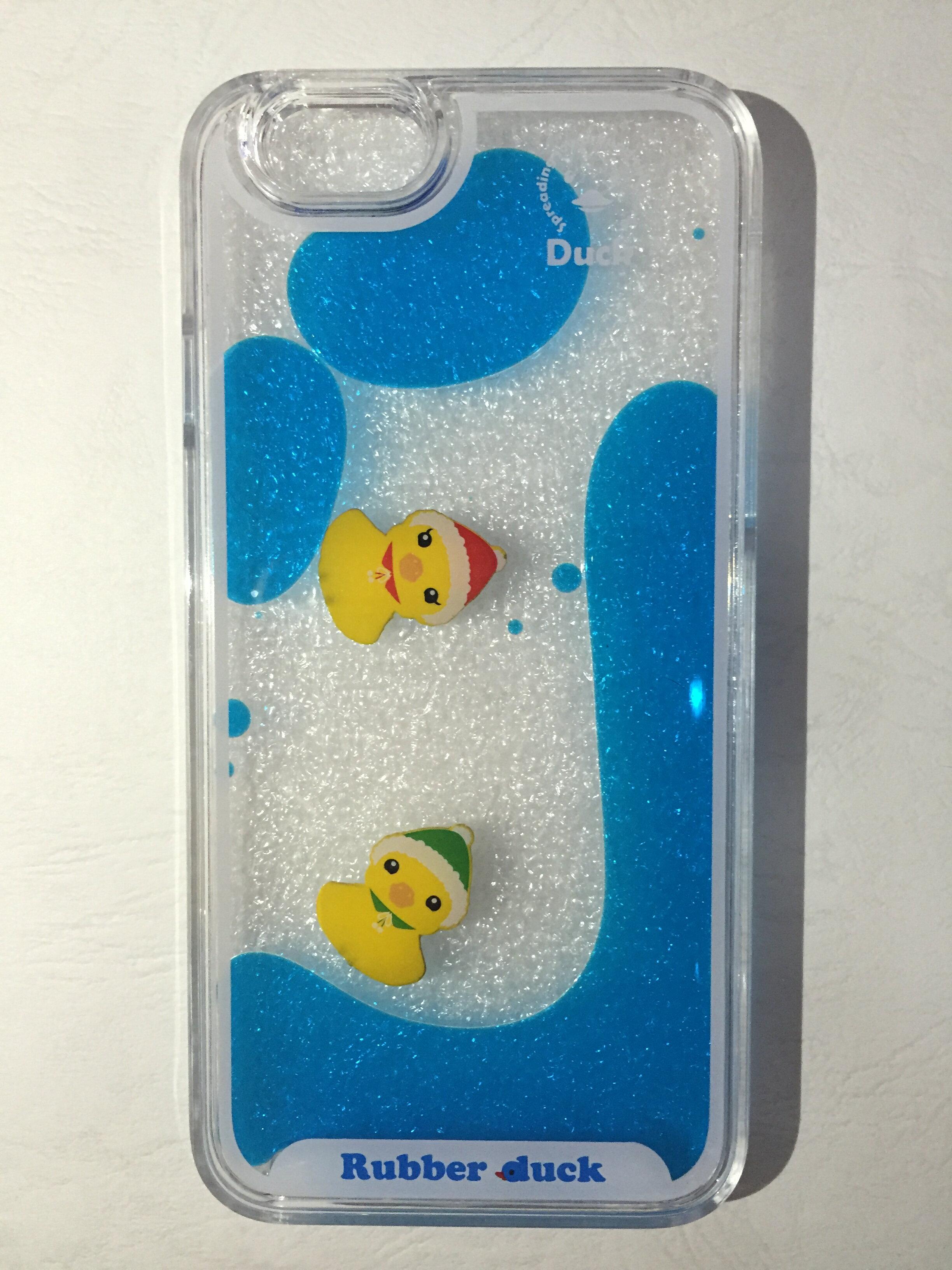 ELK 蘋果IPHONE6/6PLUS/6S/6SPLUS(4.7/5.5吋) 韓國 漂浮黃色小鴨 手機殼 保護套 液態 透明 硬殼
