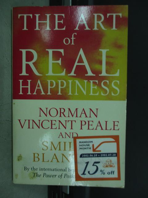~書寶 書T8/原文小說_JAZ~The art of real happiness_20