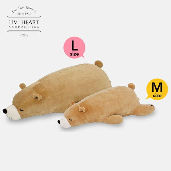 日本 LivHeart Premium Nemu nemu超夯療癒動物抱枕 / M-L / 小熊-日本必買 日本樂天代購(2786-3568*0.7)。滿額免運 0