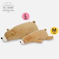 日本 LivHeart Premium Nemu nemu超夯療癒動物抱枕/M-L/小熊-日本必買 日本樂天代購(2786-3568*0.7)。滿額免運-日本樂天直送館-日本商品推薦