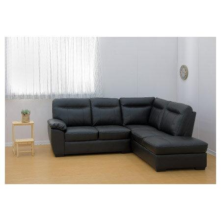 ◎(OUTLET)半皮左躺椅L型沙發 STONE BK 福利品 NITORI宜得利家居 6