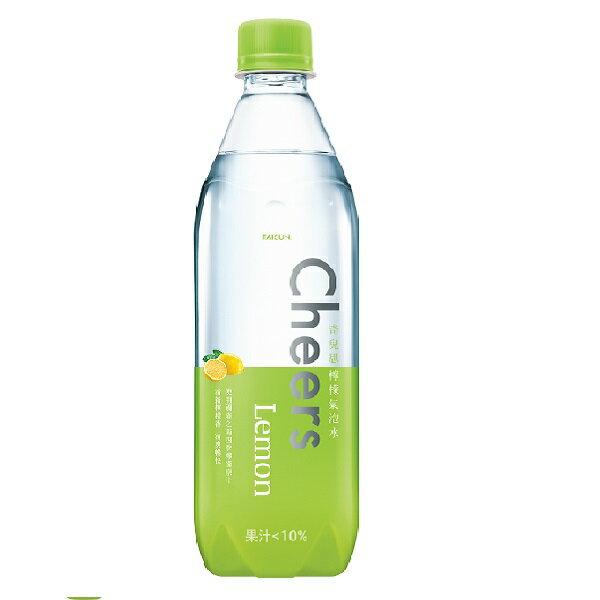 檸檬氣泡水 Cheers Lemon  (590ml*24入/箱) 【泰山】