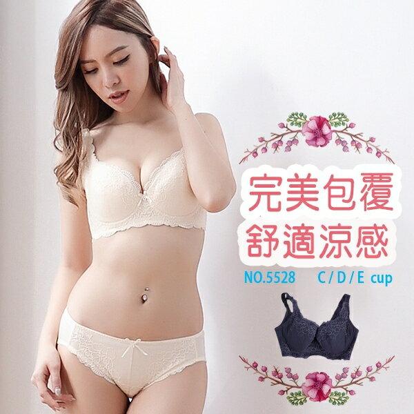內衣波波小百合收副乳收背聚攏集中浪漫蕾絲機能調整型胸罩BCDEL5528台灣製