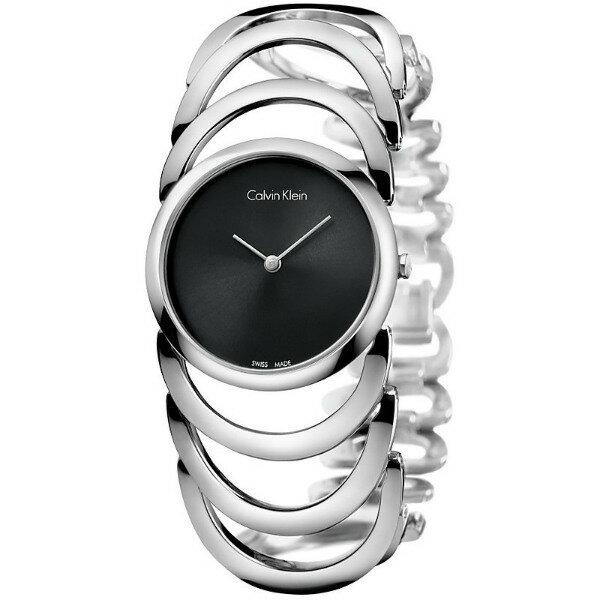 CK 曲線系列(K4G23121)藝術手環腕錶/黑面30mm