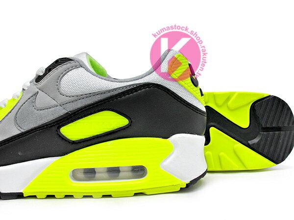 2020 經典復刻慢跑鞋 OG 版型 NIKE AIR MAX 90 白灰黑 螢光黃 網布 絨毛面 大氣墊 慢跑鞋 (CD0881-103) 0120 3