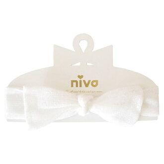 日本【NIVA】嬰幼兒超可愛髮帶(米色點點)