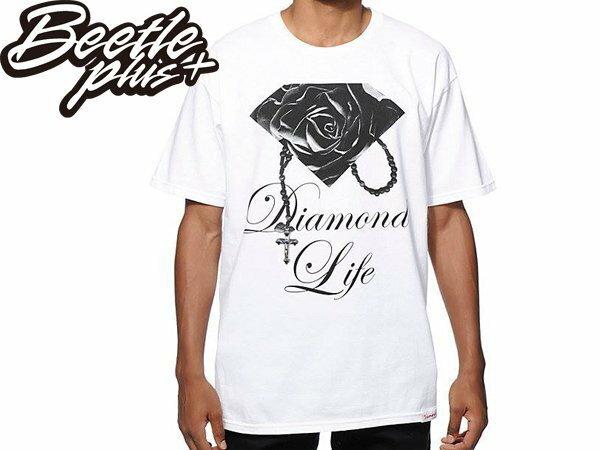 BEETLE+ DIAMOND SUPPLY CO ROSE BRILLIANT 玫瑰 鑽石 項鍊 黑白 TEE 短T - 限時優惠好康折扣