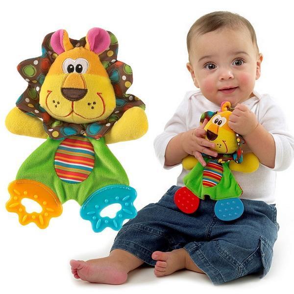Infant Baby Plush Stuffed Toys Cute Cartoon Playmate Calm Doll Teether Developmental Kids Toys 2